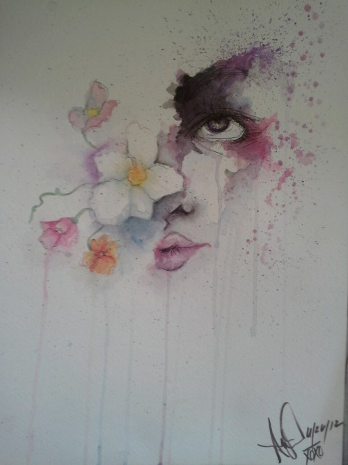 """To Emulate."" Water colours."