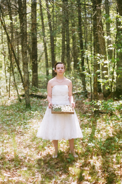 + A photo I took of my beautiful wife on our wedding day  Via Leica CL w/ Portra 400