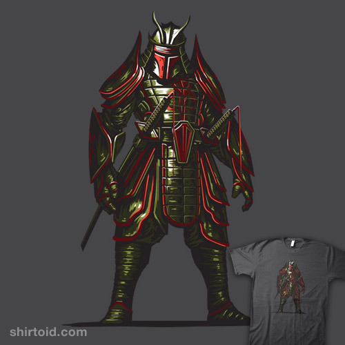 shirtoid:  Samurai Fett by Clinton Felker is $12 for a limited time at Nowhere Bad