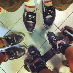 myklekrysch:  Family III #nike #nikeair #niketalk #nt #iss #solecollector #sneakernews #kicksonfire #nicekicks #kickspotting #wdywt #womft #sneakerporn #shoeporn #mynikes #igsneakercommunity #sneakerfreaker #showmeyourfeetheat #smyfh #freshnessmag #nba #sneakers #kicks #igsneakerfamily #igsneakerfriends (Taken with Instagram)