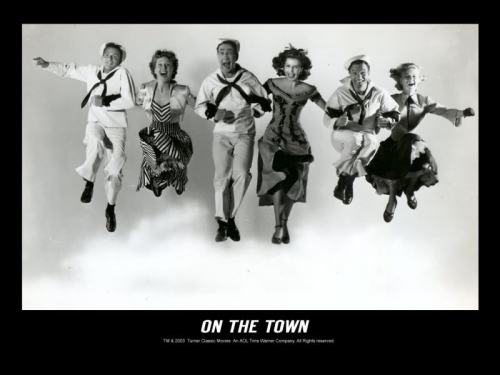 avintagegirlatheart:  The cast of On The Town.  New York, New York a helluva town the bronx is up but the battery's down.