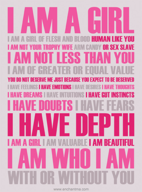 theboredpaperclip:  I am a Girl by *enchantma