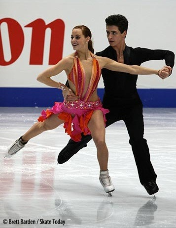 Tessa Virtue and Scott Moir's Rhumba costumes at the 2007 Worlds.