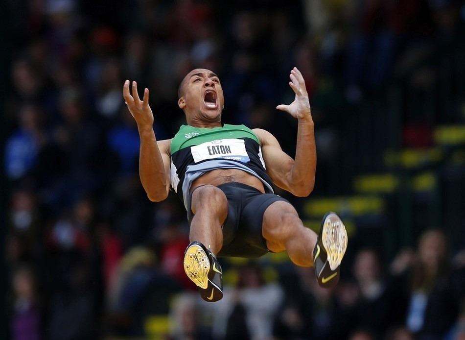 "petrichoreo:   U.S. decathlete Ashton Eaton celebrates as he clears 5.30 meters in the decathlon pole vault at the U.S. Olympic Athletics Trials in Eugene, Oregon June 23, 2012. Image by MIKE BLAKE / Reuters  From Buzzfeed's ""26 Photos of Olympics Hopefuls Realizing They're Going to London"""