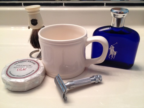 One of my favorite new things: wet shaving. I picked it up from watching the grooming episode of Put This On, and it has turned out to be the only fun male grooming experience of my life. Warm water, old fashioned shaving soap, a classy Merkur 34C safety razor, and a fresh towel are all I need to create an enjoyable shaving experience. Especially with my thick, coarse facial hair, it seems to do the job much better than any other multiple blade razor on the market. Plus, it's cheaper to replace the blade, and I will never have to throw away the safety razor as long as I take good care of it. I highly recommend trying a nice wet shave, you might change your whole routine for it. I will warn you, however, that it does take 4-5 passes for me because of my thick facial hair, so it might take extra time, but my face has never been smoother and I've never looked more gentlemanly. For all my wet shaving needs, I shop at Classic Shaving. Check it out!