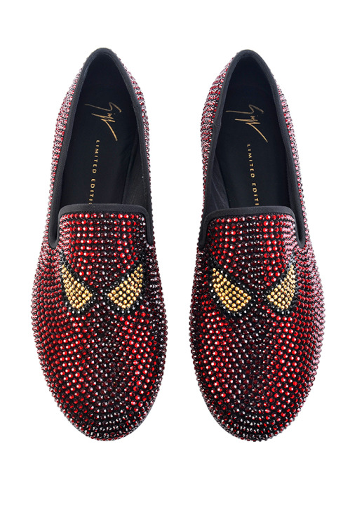 A look from the Giuseppe Zanotti men's collection, which debuted at Pitti Uomo