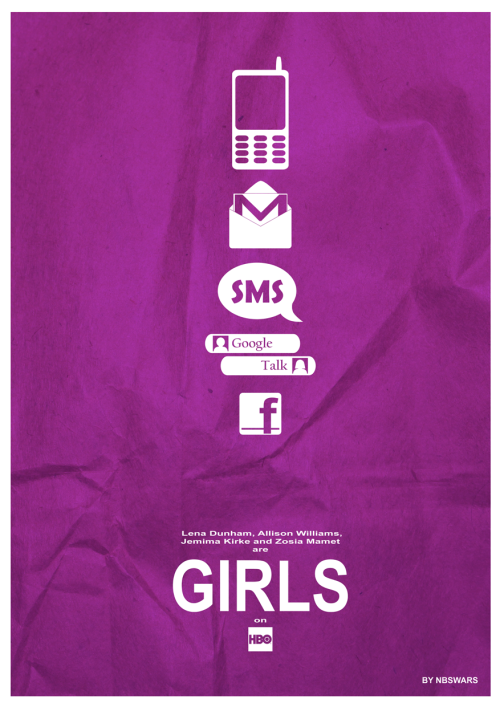 Girls materialistic poster (the totem of conversations)