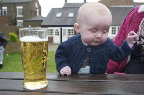 Baby Looks Like It's Telling Drunk Story And then, I crapped my pants. Right in the middle of the store. Top that, eh?