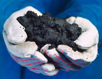 Tar sands oil, image credit: Suncor