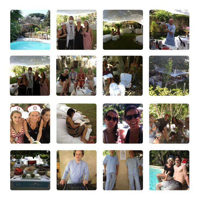 Pool party fun at our Recovery Camp in Cannes!! Some much needed R&R after a crazy week!