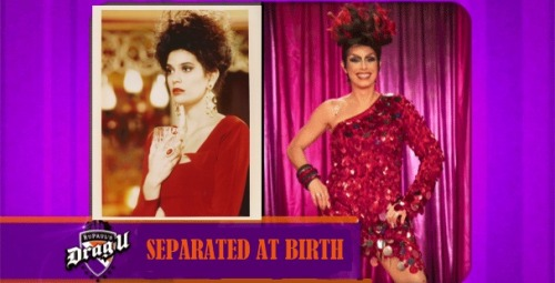 "newnownext:  Teri Hatcher in ""Soapdish"" or Destiny Del Ray on ""RuPaul's Drag U"""