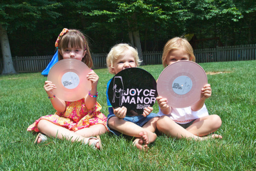 "bsmrocks:  mevsjessevsmorrissey:  Joyce Manor UK on Flickr. Via Flickr: All three Joyce Manor 10"" from the UK Big Scary Monsters release.  Possibly my favourite photo of the Joyce Manor vinyl so far!"