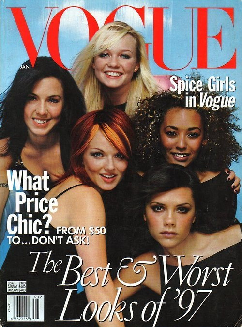 Pulling out the January '98 US Vogue Cover in honor of the announcement of Jennifer Saunder's first musical, Viva Forever, based on the music from the Spice Girls. It is set to preview on November 27 and opens December 11 at London's Piccadilly Theatre.
