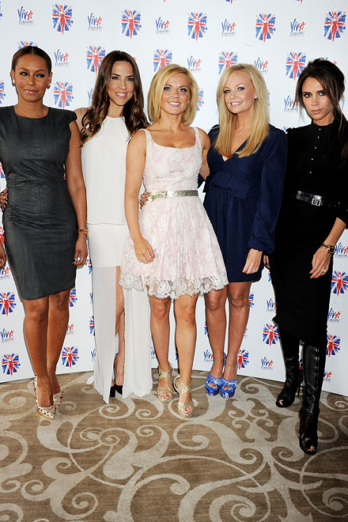 frivolouswhim:  bohemea:  The Spice Girls reunite at the launch of Viva Forever! in London, June 26th 2012  omg i was such a fan