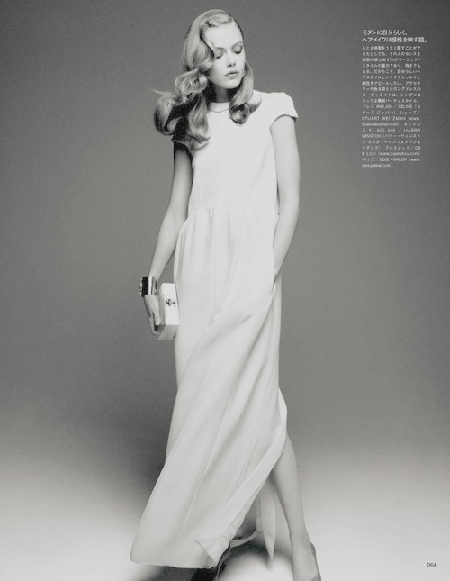 "Frida Gustavsson in Vogue Japan August 2012 ""When elegance comes easy"" by Victor Demarchelier"
