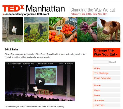 "Earlier this year, The Glynwood Institute for Sustainable Food and Farming sponsored a one-day TEDxManhattan event themed ""Changing the Way We Eat"". A powerful group of speakers spent the day inspiring attendees on how to change the food system to a more sustainable, local approach to producing and eating food. If you missed it, check out the videos online and free!"