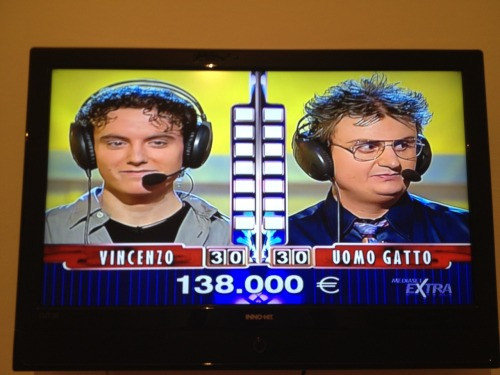 Here Is A Photo Of An Italian TV Show That I Took When I Went To Italy