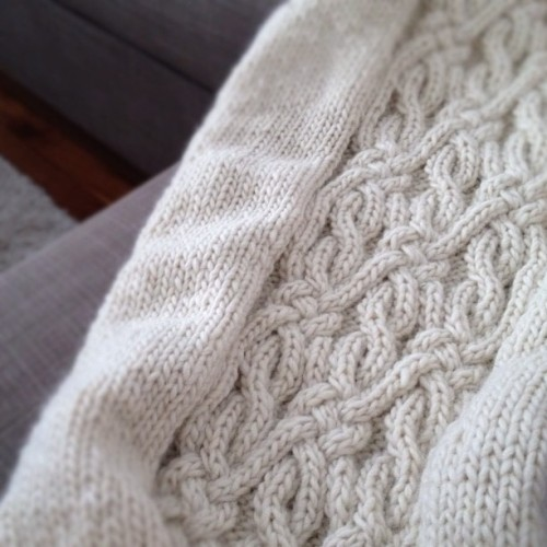 cottonandcloud:  A new project. #knit #knitting #cable (Taken with Instagram)