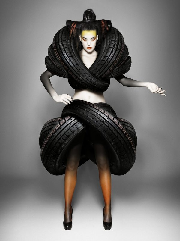 Treadwear, Tires Turned into Fashion Armor For Goodyear Dunlop