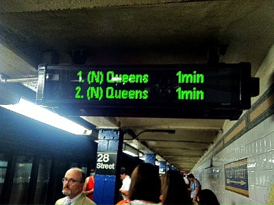 ALMOST THERE: Some N/R train stations now have countdown clocks!