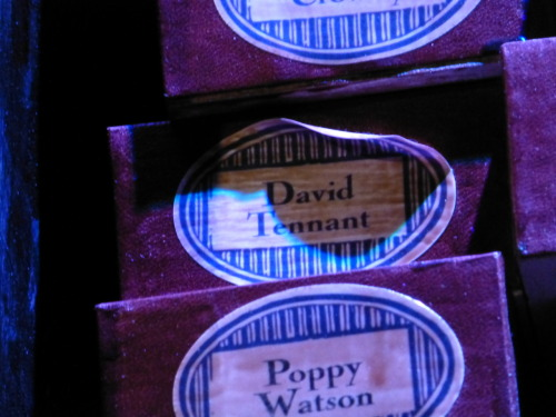 David Tennant's name on a wand box at the Harry Potter Studio Tour, London