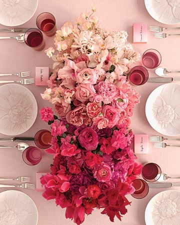 Ombre floral arrangements.