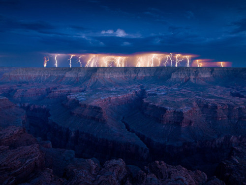 Lightening show at the Grand Canyon