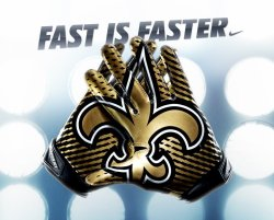 neworleanssaints:  The new Nike Vapor Jet Gloves that players will start using this season. They will be available for sale closer to the season!