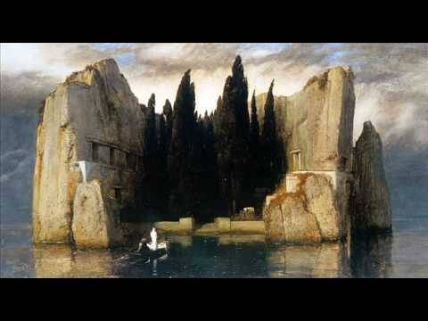 Isle of the Dead by Arnold Böcklin   inspiring the symphonic poem by Rachmaninov: http://www.youtube.com/watch?v=dbbtmskCRUY