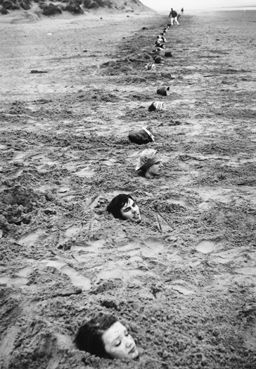 Liverpool Beach Burial, 1968 Photo: Keith Arnatt