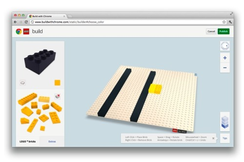 nevver:  Lego + Chrome = Build