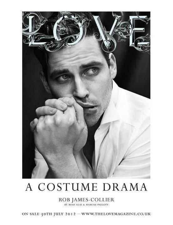 Rob James-Collier - Love #8 by Mert & Marcus Downton Abbey themed Love covers! Swoon! Thomas the Footman is a total dreamboat! The issue, featuring various covers including this gorgeous shot of Downton's Jessica Brown-Findlay, hits newsstands July 30th.