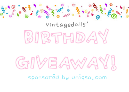 "vintagedolls:  MY FIRST GIVEAWAY! Hello, followers! So, as you can tell by my awfully photoshopped pictured (I know it's pretty bad) I will be doing a birthday giveaway in honor of my birthday, duh. First time doing something nice to you guys after torturing you with my floods of hate mail and opinionated posts. It's just a little ""thank you"" for still following me (^◇^) Giveaway Duration: June 26, 2012 to July 15, 2012 12:26 EST (which is my birthday) Giveaway Rules: MUST be following me (@vintagedolls) because this is a giveaway for my followers MUST ""like"" Uniqso's page on Facebook. How To Enter: Reblog this post up to 9 times per day Prize: The winner will receive a free pair of circle lens! I.Fairy Lucius Grey, to be exact. Prescription available upon request as they will be shipped out by Uniqso.  Good luck and thanks for reading! ヾ(@⌒ー⌒@)ノ"