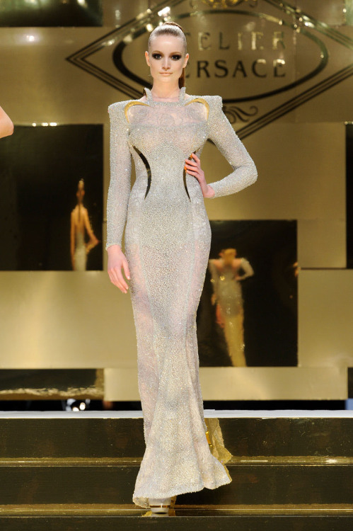 Who wants to shine? Atelier Versace. Paris. Summer 2012 Haute Couture.