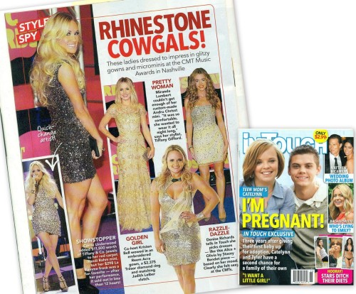 Check out Carrie Underwood in La Femme Fashion featured in InTouch Weekly Magazine. Carrie is wearing style 17092.http://lafemmefashion.com/dress_style_search/17092