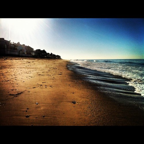 Walk along Carbon Beach, Malibu…