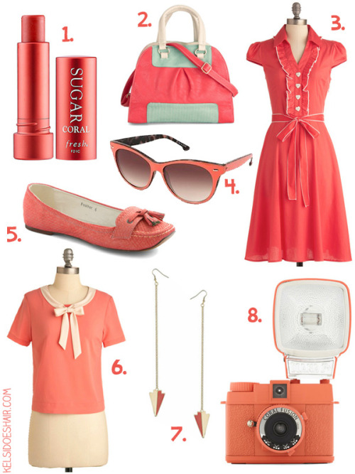 Coral color trend. Some pretty selections by KelsiDoesHair (via All The Pretty Colors: Coral | Kelsi Does Hair)