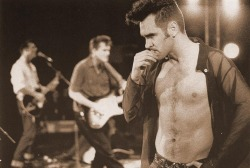 Morrissey shot by photographer Linder Sterling.