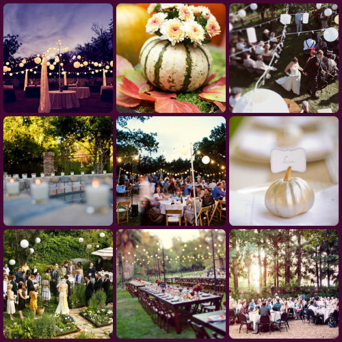 The Green Bride Guide's Inspiration board for a backyard wedding!