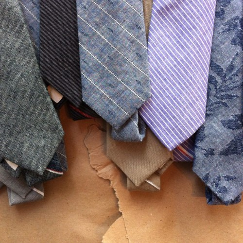 fourhorsemenshop:  Our first ever shipment of pointed ties from The Hill-Side has arrived. @thehill_side #menswear #accessories #madeinUSA (Taken with Instagram at Four Horsemen Shop)
