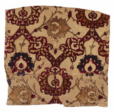 Velvet fragment, Safavid, Iran, 16th century. The Textile Museum 3.224, acquired by George Hewitt Myers in 1939