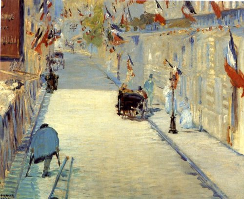 grupaok:  Edouard Manet, Rue Mosnier With Flags, 1878.