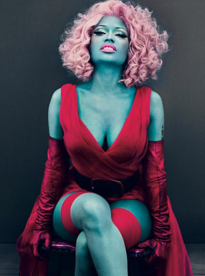 nicki is feeling blue - vogue march 2012 xoxo MB