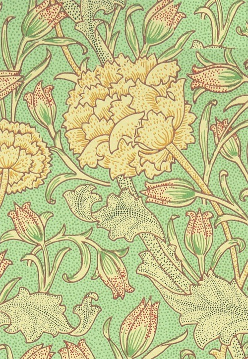 venusmilk:  Wild Tulip DetailDesigned by William Morris in 1884