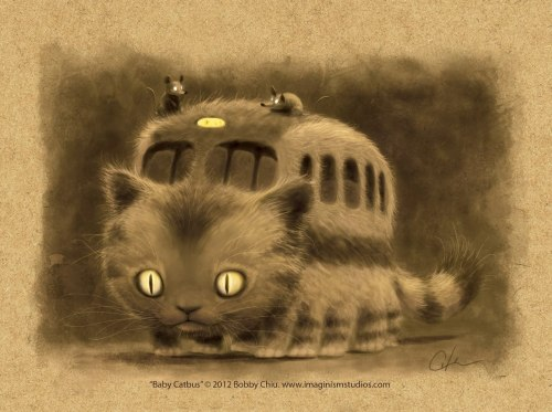 superstarling:  Baby Catbus by imaginism Our local bus system is the CATA system, and this is what I always think of.