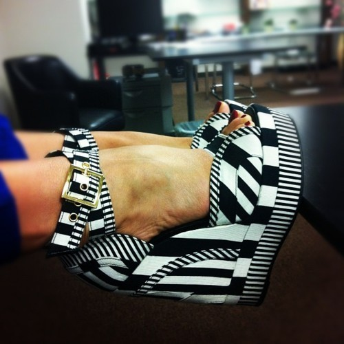 Love patterned shoes like this!