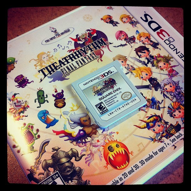 Theatrhythm Final Fantasy has arrived! (Taken with Instagram)