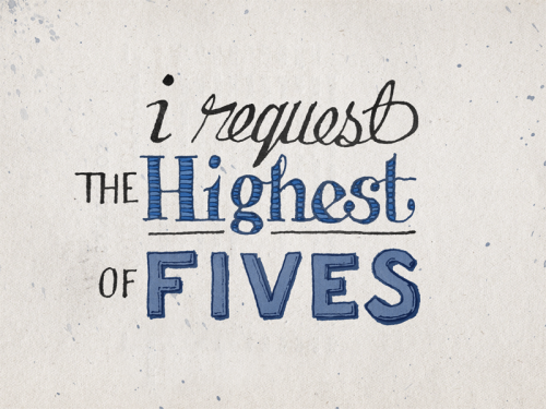 curiositycounts:  Too true.  nevver:  The Highest of Fives    Yes!