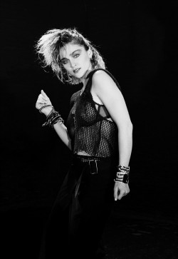 Madonna shot by photographer Kees Tabak.  1984.