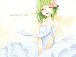 Happy Birthday Gumi! ^^ I love this picture of her *_*